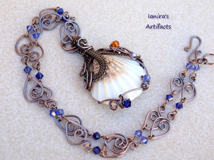 Wire wrapped seashell pendant by ianirasartifacts on deviantart wire wrapped seashell pendant by ianirasartifacts aloadofball Images