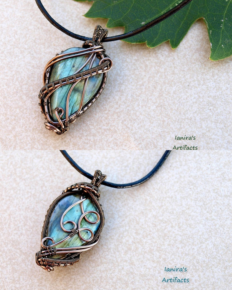 Labradorite wire wrapped pendant by IanirasArtifacts on DeviantArt