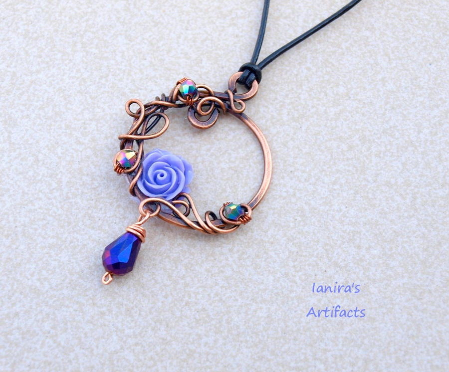 Victorian copper wire wrapped pendant by IanirasArtifacts on DeviantArt