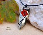 Pyrite arrowhead wire wrapped pendant