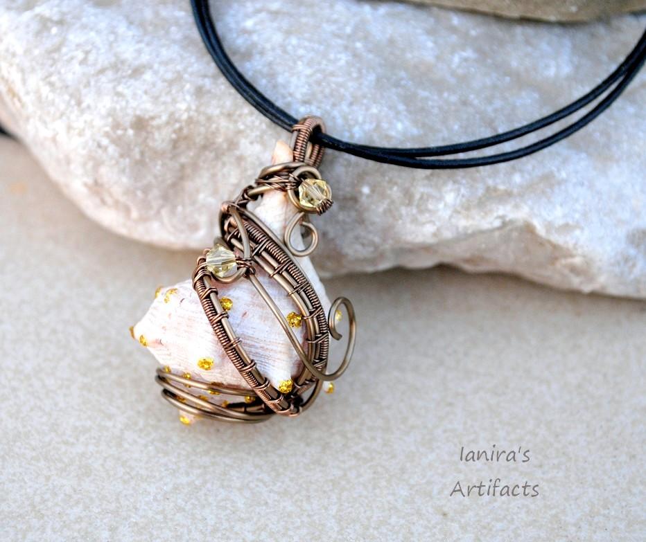 Sea shell wire wrapped pendant by ianirasartifacts on deviantart sea shell wire wrapped pendant by ianirasartifacts aloadofball Choice Image