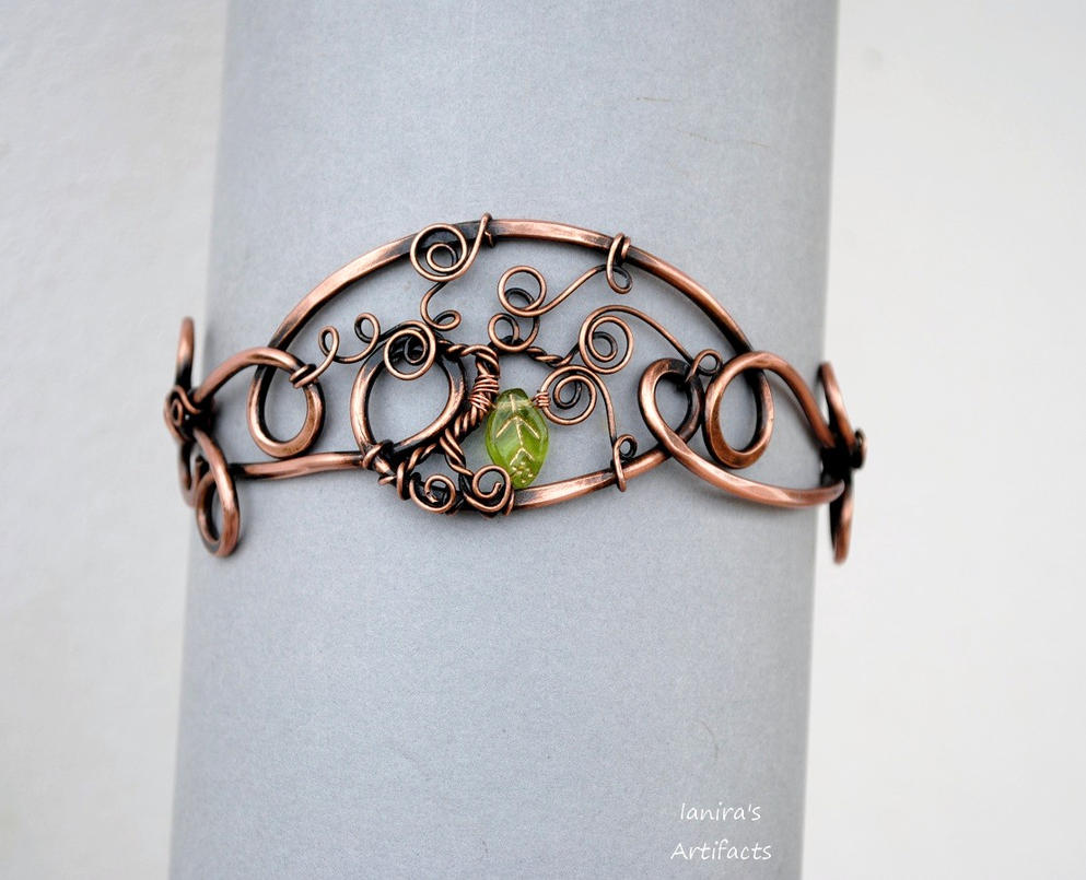 Copper wire tree of life armband by ianirasartifacts on for How to make a wire tree of life sculpture