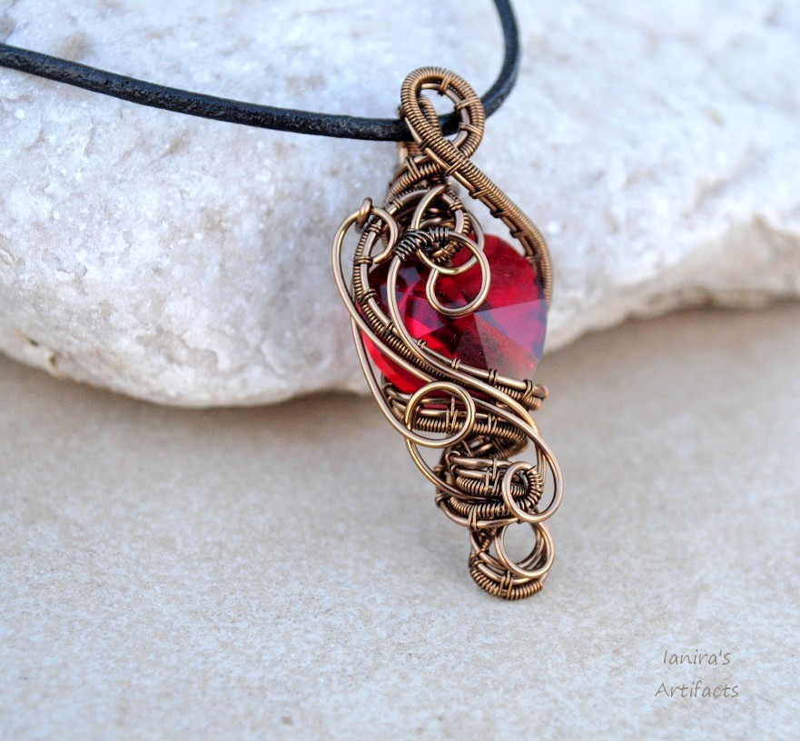 Red crystal heart wire wrapped pendant by ianirasartifacts on deviantart red crystal heart wire wrapped pendant by ianirasartifacts aloadofball Gallery