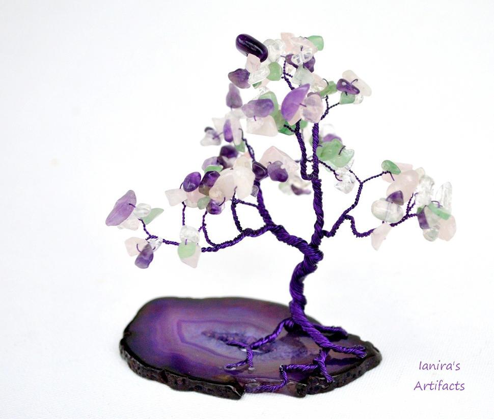 Purple Tree of Life - multicolour by IanirasArtifacts
