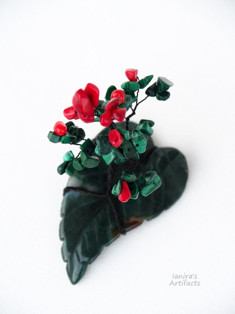Wire Bonsai With Malachite Coral And Moss Agate By Ianirasartifacts What Does Wiring A Do