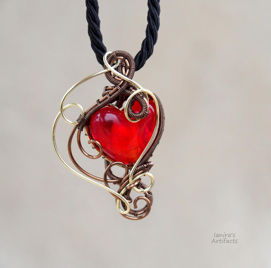 red wire pendant