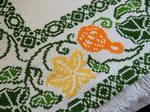 Pumpkin cross stitch table topper by IanirasArtifacts