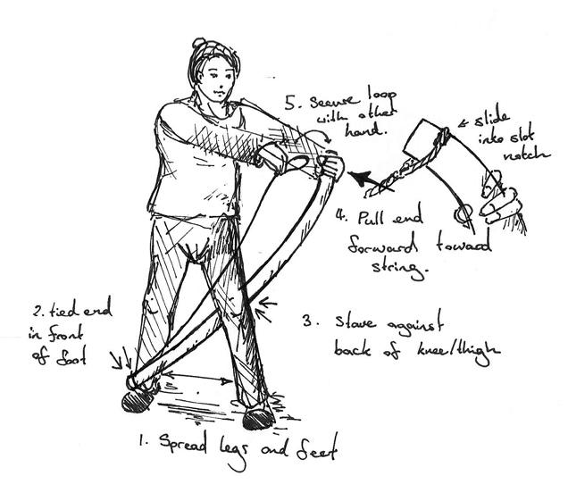 Fabricacion de un arco vikingo en tejo. - Página 2 How_to_string_a_bow_by_ming_lung-d6fwb1n