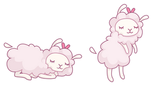 Sheepover poses by snut