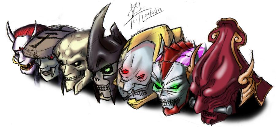 Tekken Helmets Coloured By Yoshimitsutqt On Deviantart