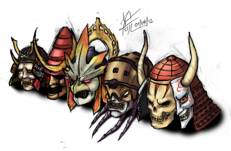 Soul Calibur Helmets COLOURED
