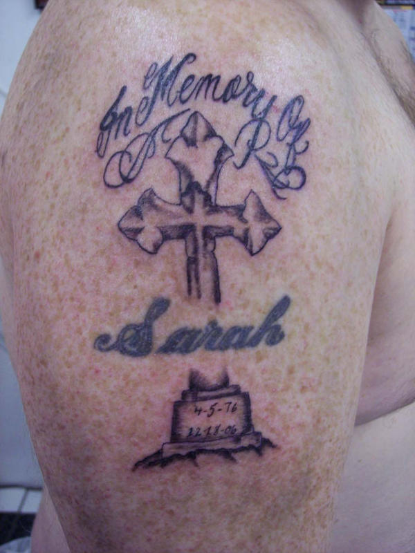 cross tattoos in memory of. cross tattoos in memory of.