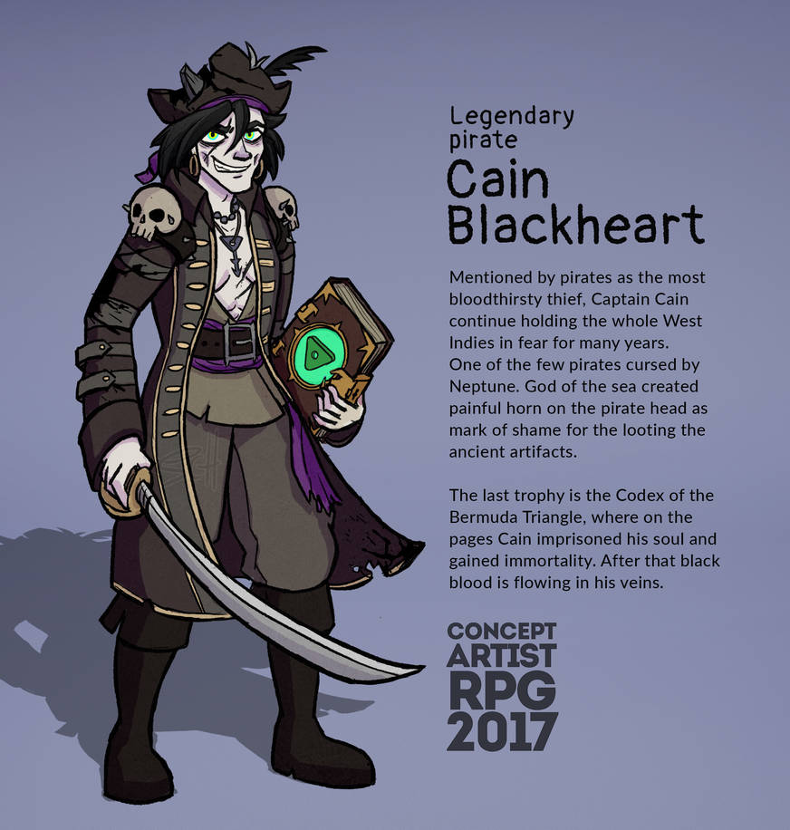 Legendary Pirate - Cain Blackheart by SunChief on DeviantArt