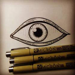 Eye tattoo sketch by GodLikeIkons