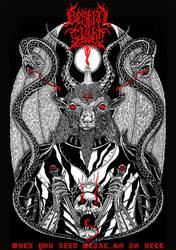 T-shirt design for Bestial Sight by GodLikeIkons