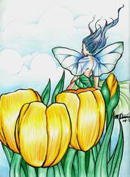 Yellow Tulips by Monelun