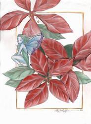 Poinsettia Faerie by Monelun