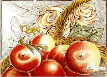 Apple Rose by Monelun