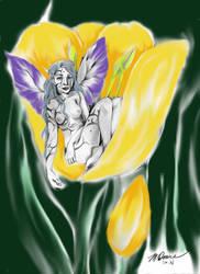 Tulip Faerie by Monelun