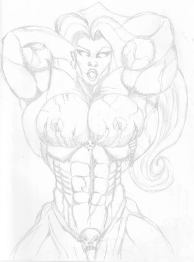 Lady Death sketch by Puretip on deviantART