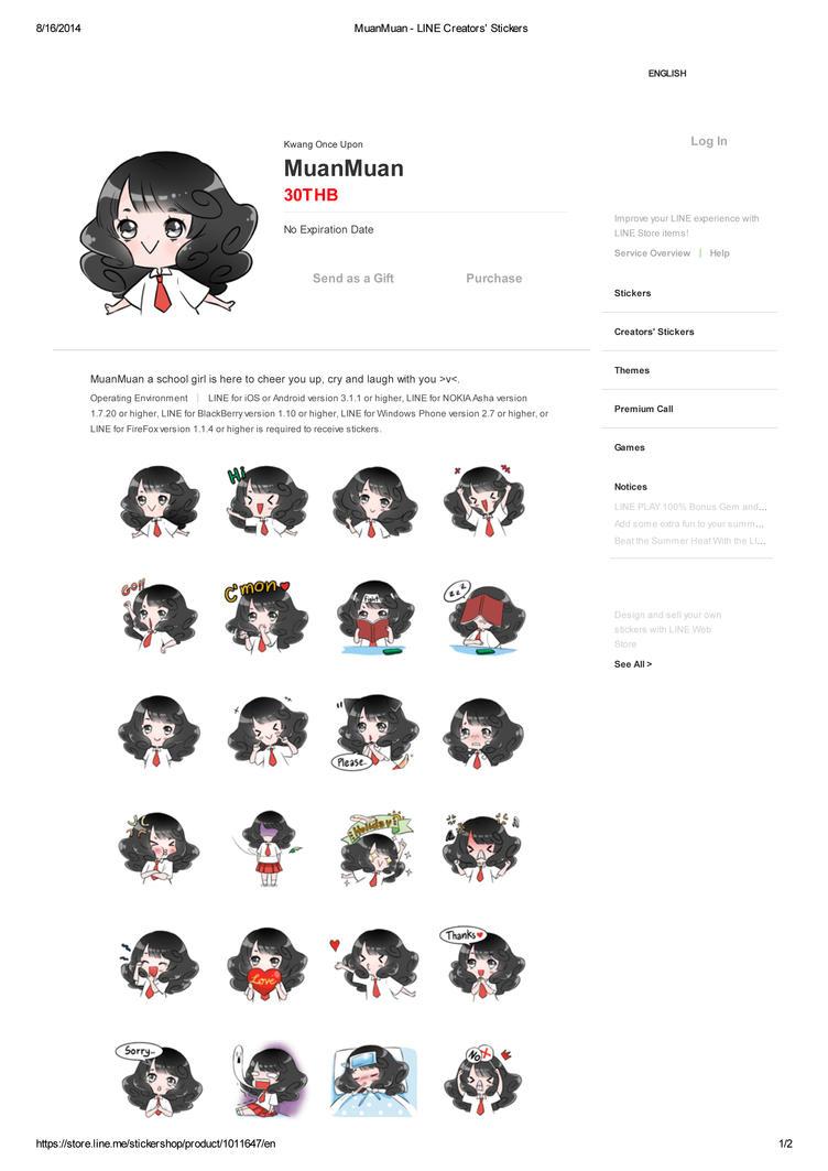 [Sample] MuanMuan Sticker Line by golden-kwang