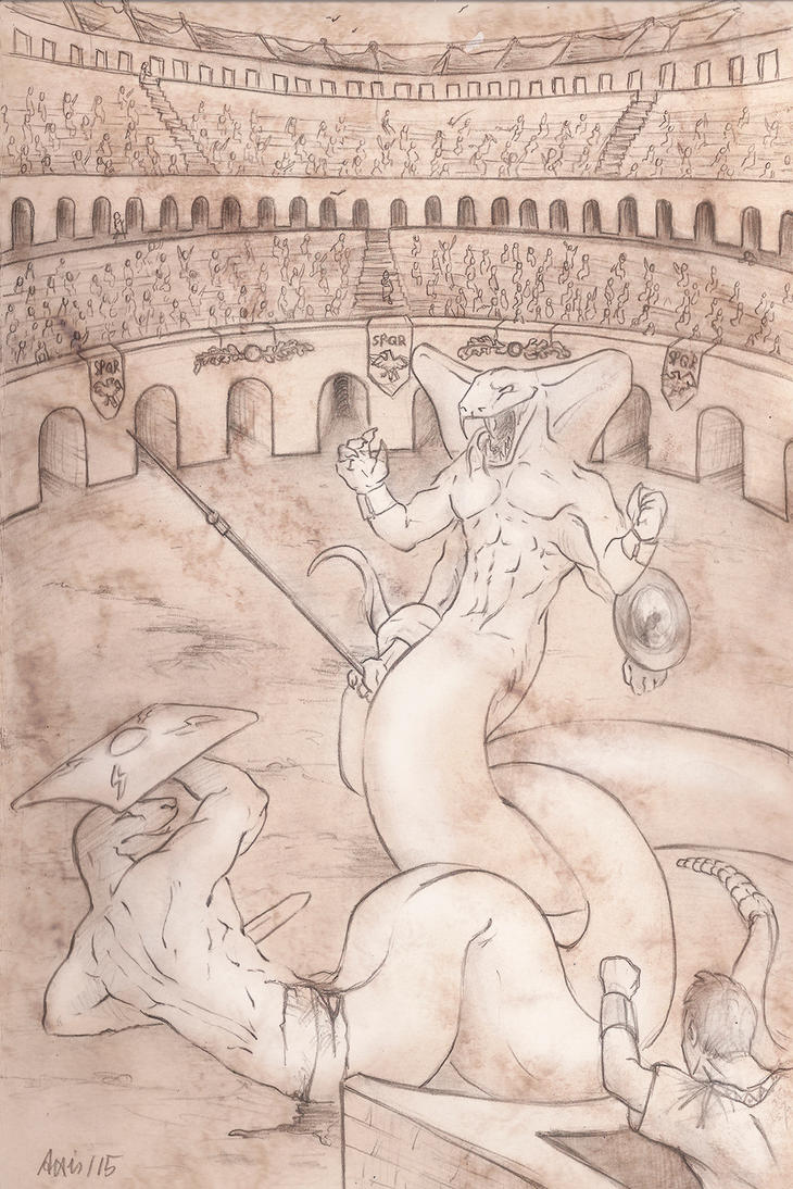 Snakes in the Arena by balorkin
