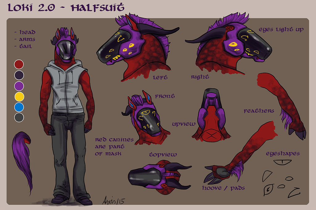 Loki Fursuit Concept by balorkin
