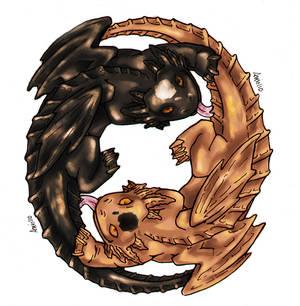 Axolotl Dragon Yin Yang