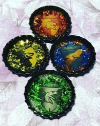 Harry Potter House Bottle Cap Charms