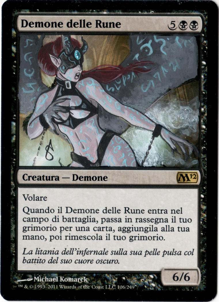 Rune Scarred Demon by AlteRedSynne