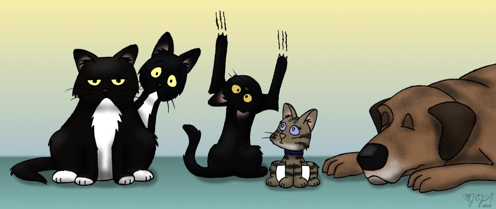 Four-legged family members by BJ-O23