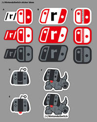Sticker designs for /r/NintendoSwitch by BJ-O23