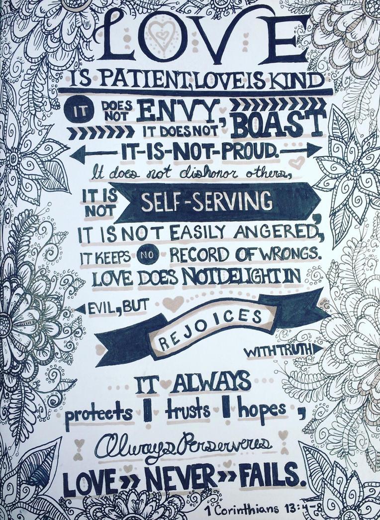 1 Corinthians 13: 4-8 by oxVictoriquexo