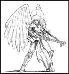 Rock Angel in MS Paint