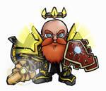 Mini Dwarf Paladin
