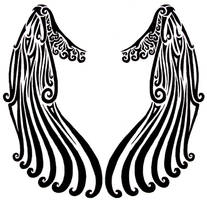 Tribal Angel Wings by LastHarliquin