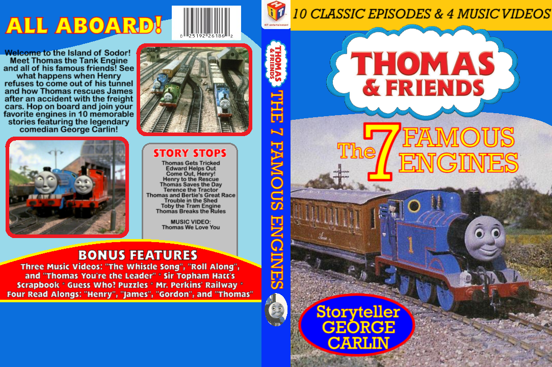Tractor Blue Book >> The 7 Famous Engines DVD Cover by RailfanBronyMedia on DeviantArt