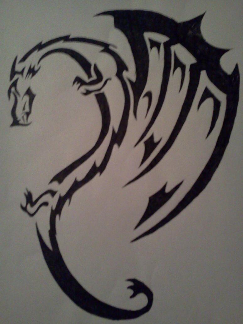 tribal dragon tattoo design by alphas female on deviantart. Black Bedroom Furniture Sets. Home Design Ideas