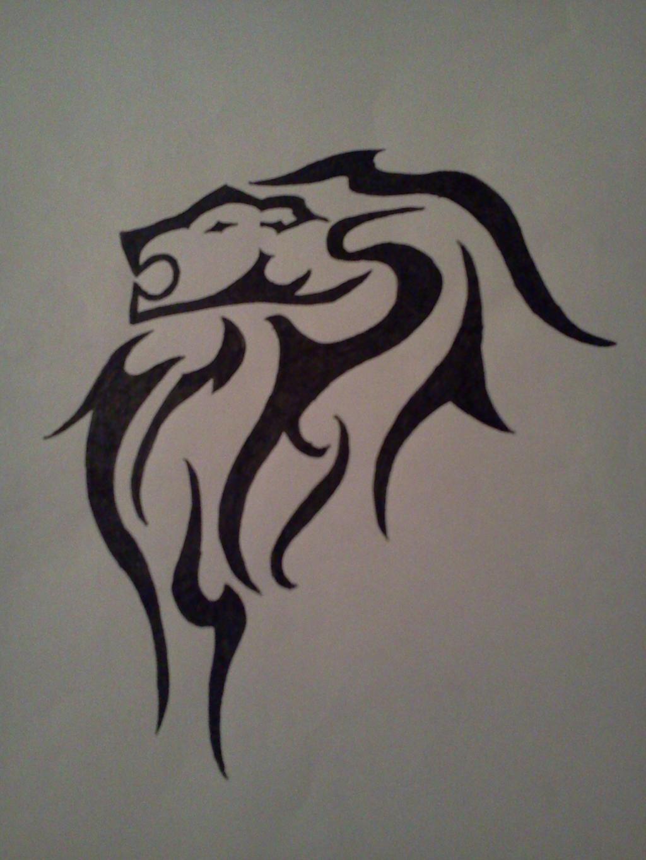 tribal lion tattoo design by alphas female on deviantart. Black Bedroom Furniture Sets. Home Design Ideas