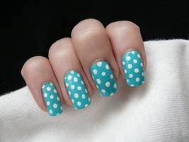 Polka Dot Blue by LuckyRedOne