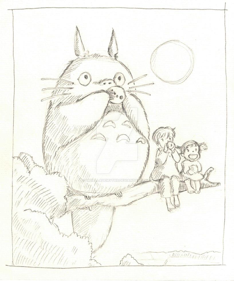 Totoro by mgiellademyths