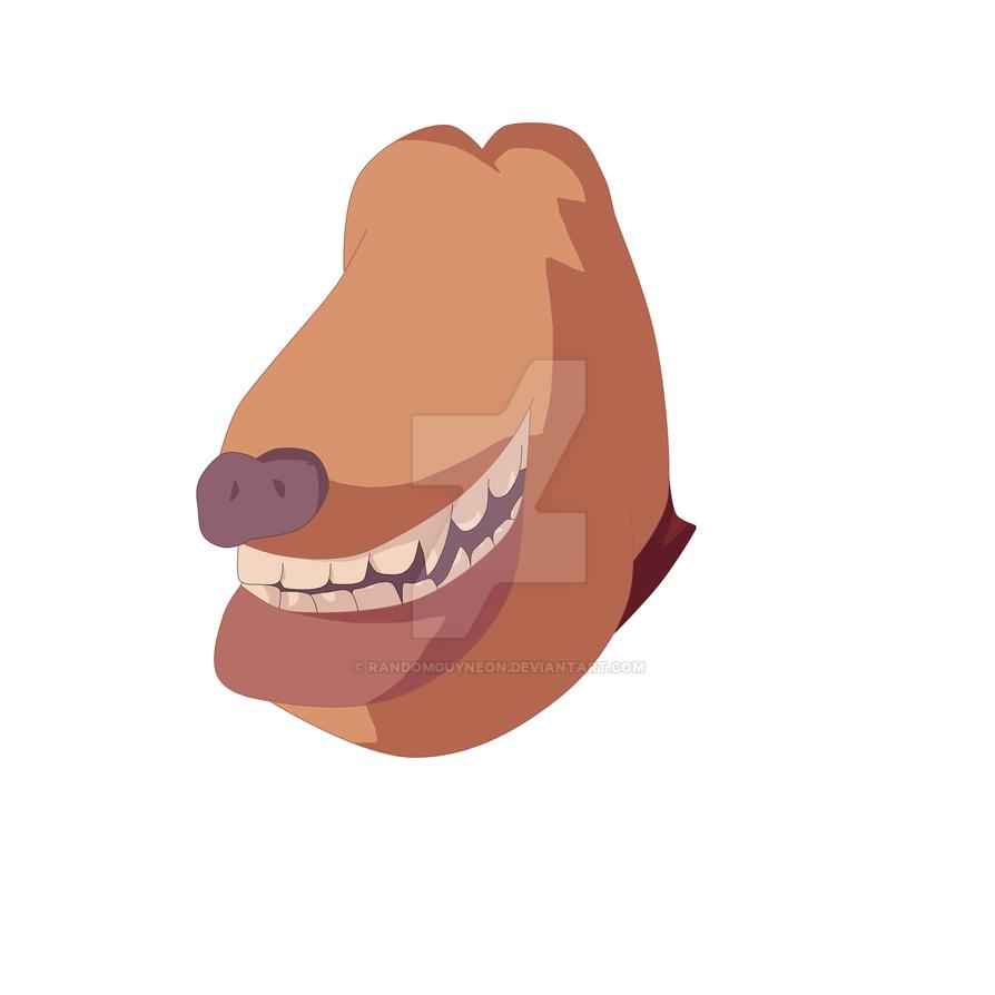 Dog without eyes by randomguyneon