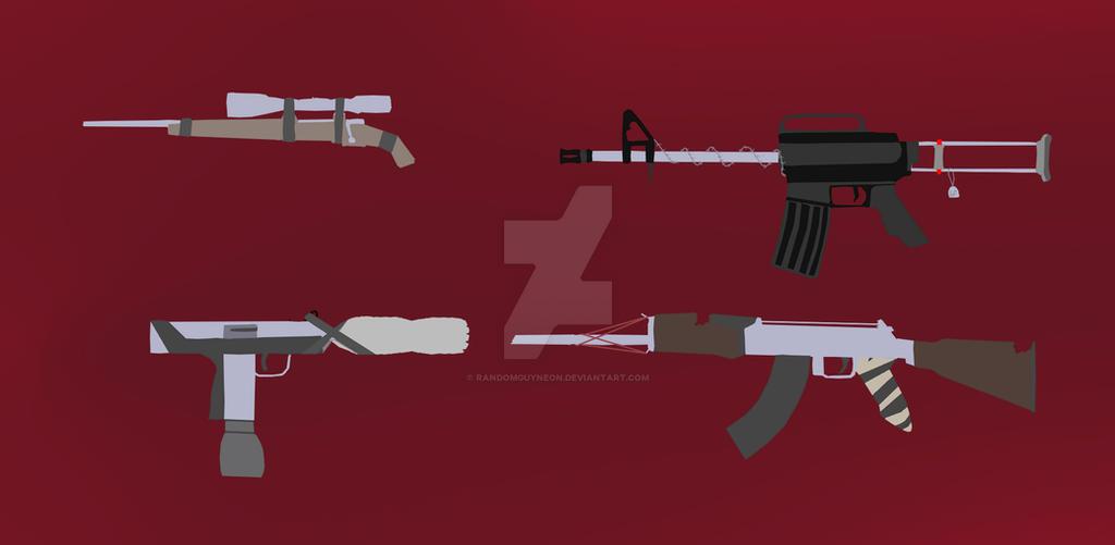 Post Apocalyptic Gun Concepts by randomguyneon