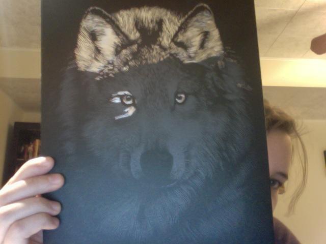 Scratchfoil Wolf by Sashova