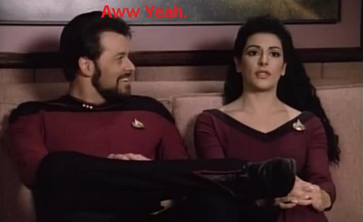 Riker's Aww Yeah Face by Sashova