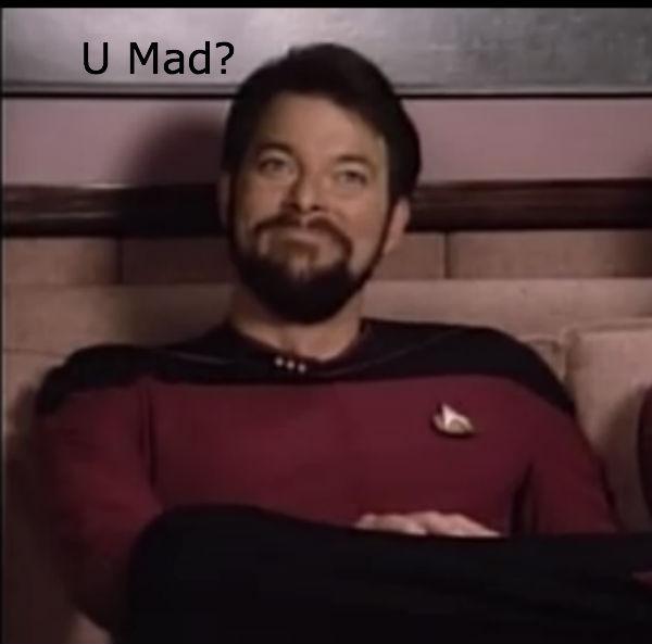 Riker's a troll by Sashova