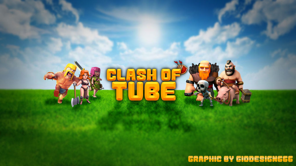 Clash of Clans YouTube Background (free) by GioDesign666 on