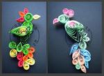 Parrots - quilling