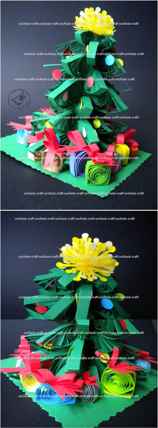 Quilling - X-mas tree by Eti-chan