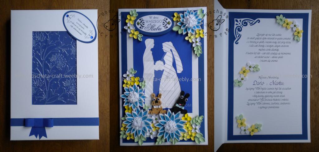 Royal blue wedding by Eti-chan